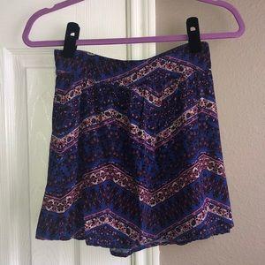 F21 Printed Circle Skirt